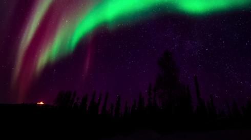 aurora-borealis time lapse